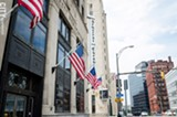 PHOTO BY MARK CHAMBERLIN - The Gannett building: another historic downtown Rochester building is looking for a buyer.