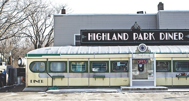The Highland Park Diner in Swillburg. The neighborhood has one of the highest rates of owner occupancy in the city.