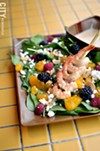 The honey-lime shrimp salad, from Magnolia's.