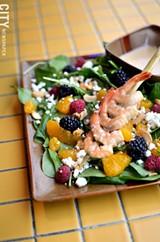 PHOTO BY MATT DETURCK - The honey-lime shrimp salad, from Magnolia's.