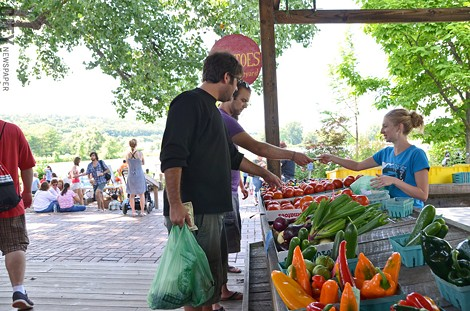 The Ithaca Farmers' Market has a location on the waterfront at Steamboat Landing. - PHOTO BY MATT DETURCK