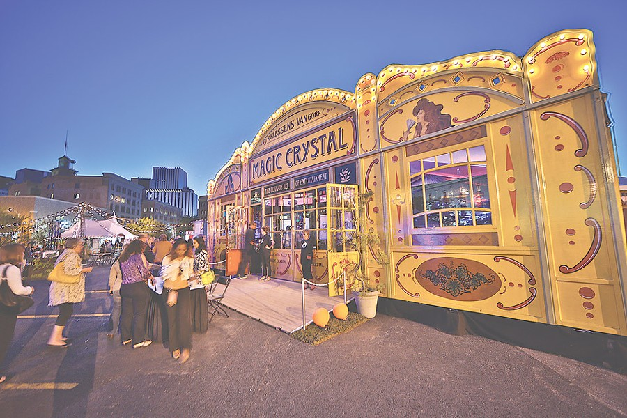 The Magic Crystal Spiegeltent at the Rochester Fringe Festival. - PHOTO BY ERICH CAMPING