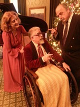 "PHOTO PROVIDED - ""The Man Who Came To Dinner,"" on stage at Geva Theatre Center's Nextstage, features (from left to right) Kate Lacy-Stokoe as Mrs. Stanely, Ray Salah as Sheridan Whiteside, and Morey Fazzi as Mr. Stanley."