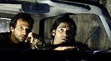 """UNIVERSAL PICTURES - The moral abyss they inhabitat: Mathieu Kassovitz and Eric Bana in """"Munich."""""""