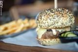 The mushroom burger at TRATA. - PHOTO BY THOMAS J. DOOLEY