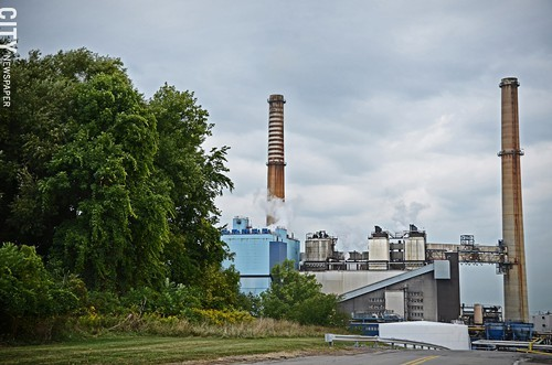The power plant at Eastman Business Park