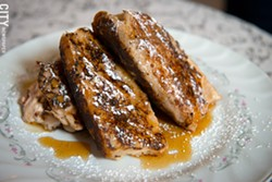 The Red Fern's stuffed French toast. - PHOTO BY THOMAS J. DOOLEY