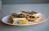 The Sandwich Bistec at James Brown's Place. - PHOTO BY MIKE HANLON