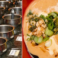 """Yummy Garden Hot Pot The """"sauce bar"""" allows diners to mix, match, and experiment with the flavors of their dish. PHOTO BY MARK CHAMBERLIN"""