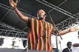 The Sierra Leone Refugee All Stars performed on Saturday, June 30. PHOTO BY WILLIE CLARK