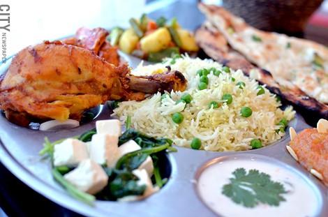 The Thali combination platter from Thali of India. - PHOTO BY MATT DETURCK