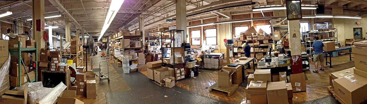 The warehouse interior at Bags Unlimited. - PHOTO BY MATT DETURCK