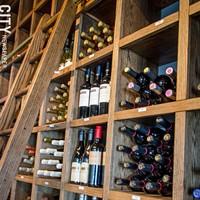 Fraiche The wine rack at Fraiche. PHOTO BY MARK CHAMBERLIN