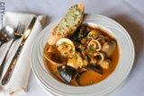 PHOTO BY MIKE HANLON - The zuppa di pesce at Pomodoro Grill and Wine Bar in Pittsford.