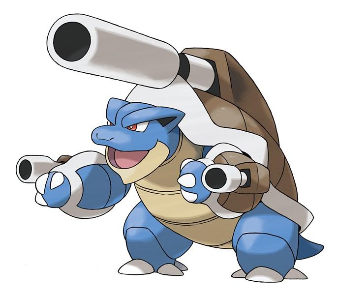 "Three guns, one 'mon. Mega Blastoise is just one of many new Mega Evolutions in ""Pokemon X/Y."""
