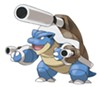 "Three guns, one 'mon. Mega Blastoise is just one of many new Mega Evolutions in ""Pokemon X/Y."""