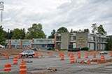 PHOTO BY MATT DETURCK - Three professional office buildings on Mount Hope and Elmwood avenues will be torn down next month for the College Town project.