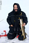 Tim Thomas with his catch.
