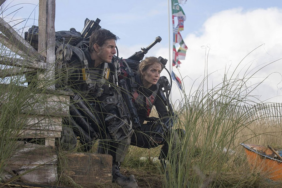 "Tom Cruise and Emily Blunt in ""Edge of Tomorrow."" - PHOTO COURTESY WARNER BROS. PICTURES"