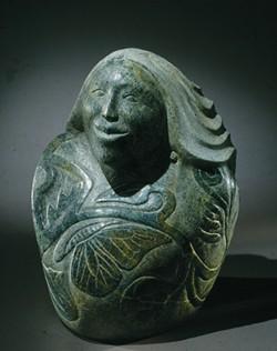 Tom Huff, Cayuga; carved stone, 1994. - PHOTO PROVIDED