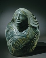 Tom Huff, Cayuga; carved stone, 1994. - PHOTO PROVIDED
