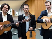 Trio Ghidorah brings classical guitar music to Virtual Little Café's Friday concert