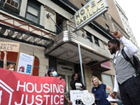 Activists call for NY state to fund affordable housing at Hotel Cadillac
