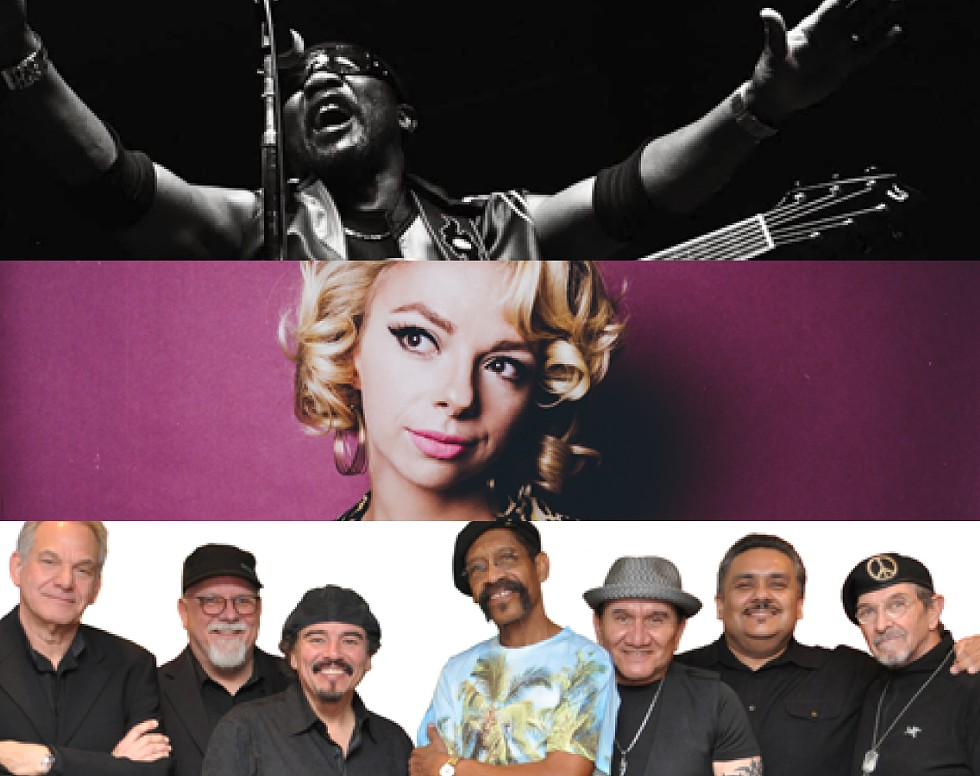 The  2019 Party in the Park concert lineup includes (top to bottom) Toots and the Maytals on June 13, Samantha Fish on June 20, and War on July 25. - PHOTOS PROVIDED