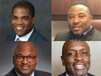 The finalists (clockwise, from top left): Terry Dade, Devon Horton, Eric Thomas, and Sito Narcisse. - PHOTOS PROVIDED