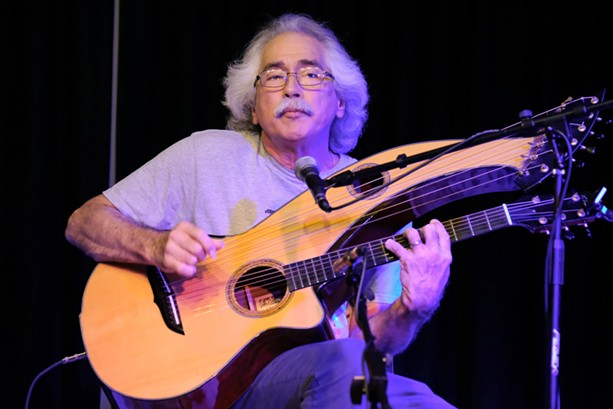 Harp guitarist Sten Bennett will showcase his serene fingerpicking style in a May 17 concert at Asbury Church. - PHOTO BY CHUCK THOMPSON