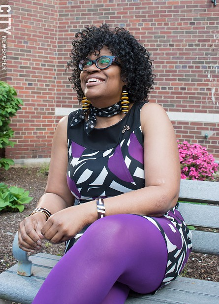 Kecia McCullough, founder of Black Girls Do Bike's Rochester chapter, says drivers and cyclists should respect each other. - PHOTO BY JACOB WALSH
