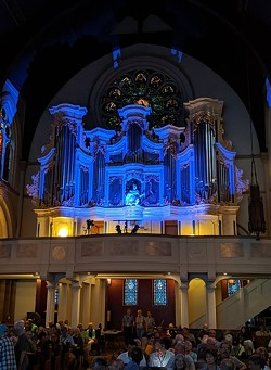 On Sunday, June 23, Kit Downes became the first Rochester International Jazz Festival musician to play the Craighead-Saunders Organ in Christ Church. - PHOTO BY DANIEL J. KUSHNER