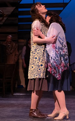 "Maya Dwyer and Sara Michelle Penner in JCC CenterStage's production of ""Indecent."" - PHOTO BY LOU SCHNEIDER"
