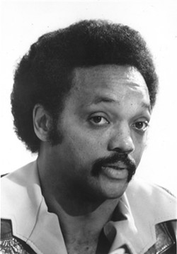 Activist Jesse Jackson came to Rochester in September 1980 to boost efforts to save Madison High School, where the overall student grade average was a D. - PHOTO BY AUDREY NEWCOMB