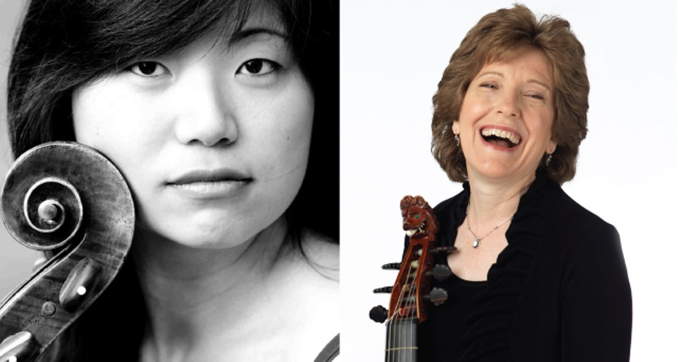 "Pegasus Early Music opens its 2019-20 season on September 22 with ""Viol3,"" a concert featuring (left) Beiliang Zhu, (right) Lisa Terry, and David Morris. - PHOTOS PROVIDED"