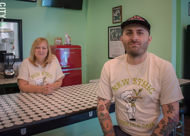 New Ethic owner Matt Nersinger (right) with his mom, Kathy Proietti. - PHOTO BY RYAN WILLIAMSON