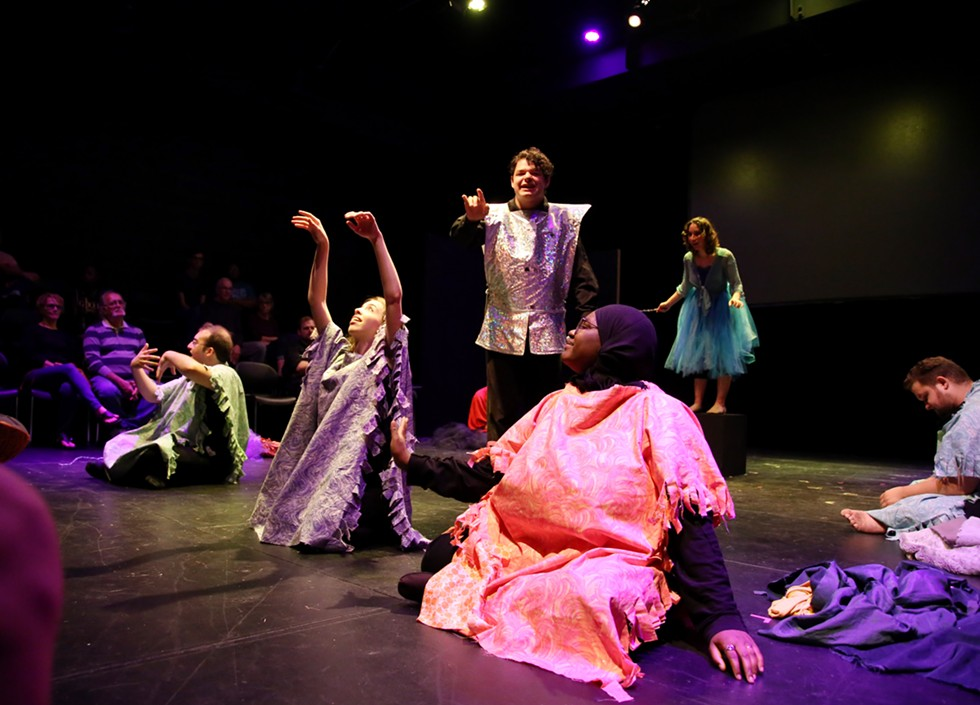 """A scene from """"Oz and Effect,"""" performed at School of the Arts on Saturday, September 14. - PHOTO BY CATHERINE RAFFERTY"""