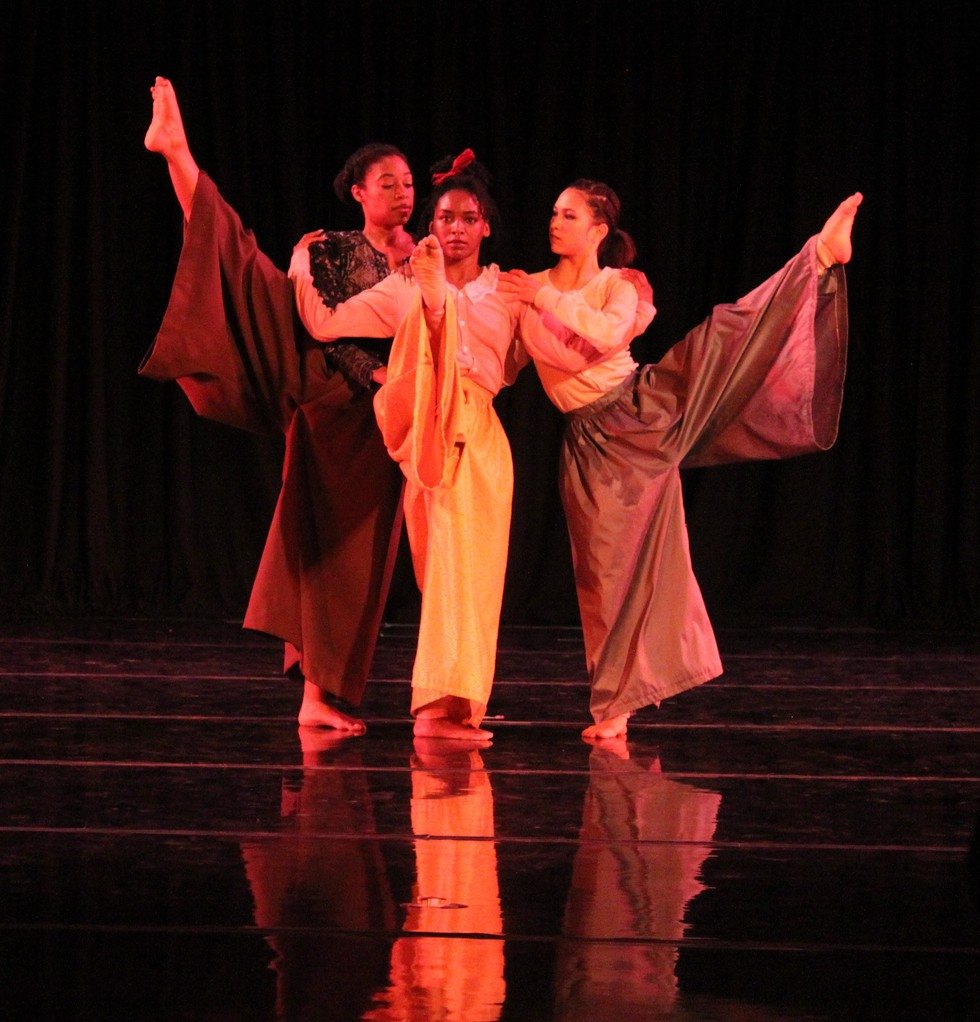 Garth Fagan Dance presented a performance at the company's studio on Thursday night. - PHOTO BY KATHY LALUK
