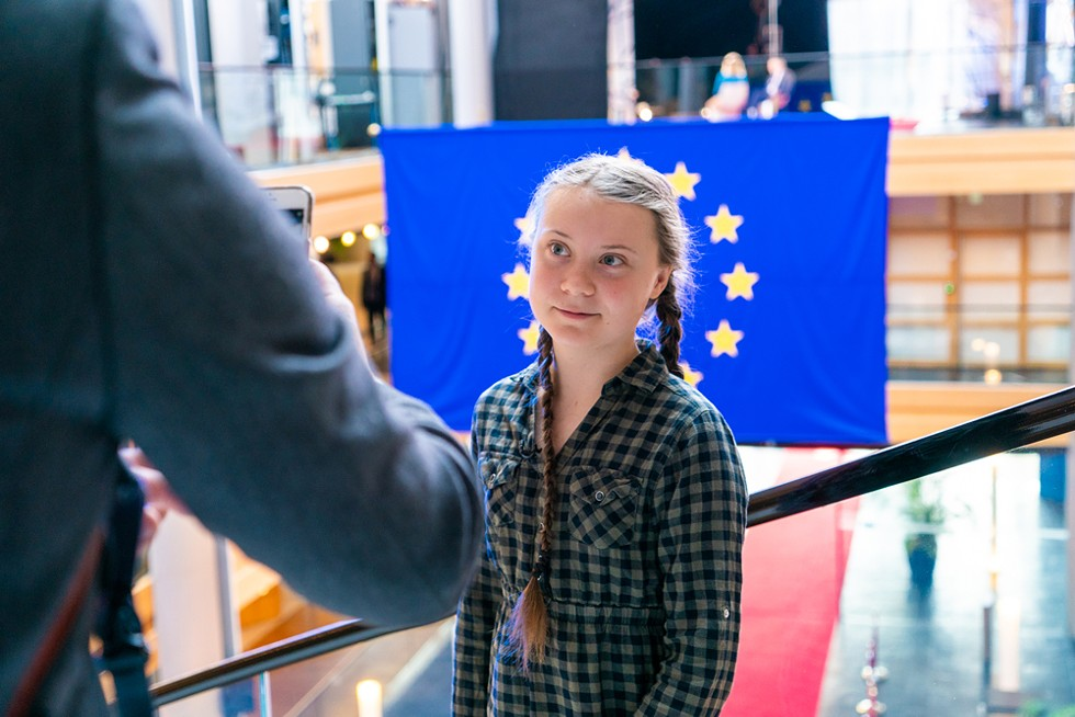 Greta Thunberg at the European Parliament. - COURTESY EUROPEAN PARLIAMENT