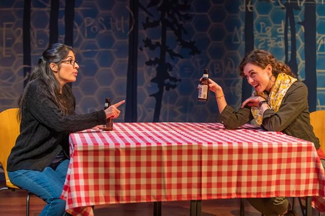 "Nikhaar Kishnani and Marina Shay in Geva's production of ""Queen."" - PHOTO BY RON HEERKENS JR. PHOTOGRAPHY"