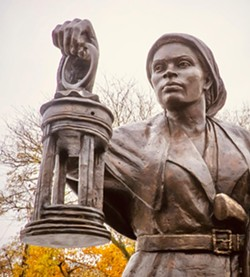 The Harriet Tubman statue in Auburn. - CREDIT NEW YORK STATE EQUAL RIGHTS HERITAGE CENTER