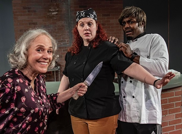 Davida Bloom, Roosa, and Laron Dewberry make up the small but mighty cast. - COURTESY STEVEN LEVINSON PHOTOGRAPHY