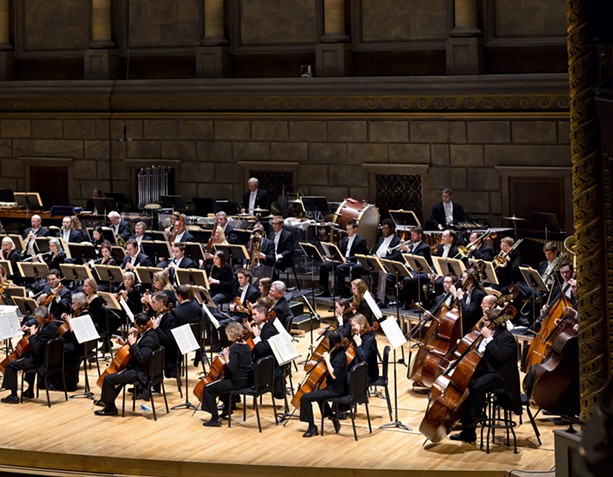 The Rochester Philharmonic Orchestra performing in Kodak Hall at Eastman Theatre. - PHOTO PROVIDED