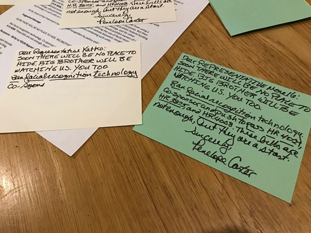 Postcards written by Penelope Carter on Friday, January 24, 2020. - PHOTO BY DAVID ANDREATTA
