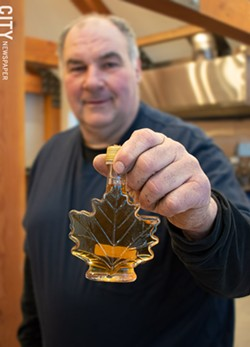 Dan Milke of Shadow Hill Maple Syrup in Ontario - PHOTO BY JACOB WALSH