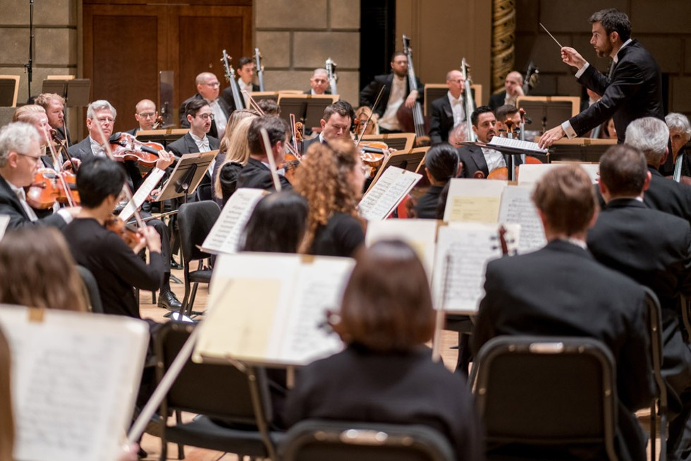 RPO Music Director Ward Stare leading the orchestra in a dress rehearsal. - PHOTO BY ERICH CAMPING
