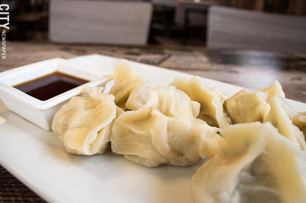Vegetarian dumplings. - PHOTO BY JACOB WALSH