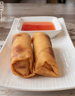 Fried vegetarian spring rolls with thai chili sauce. - PHOTO BY JACOB WALSH