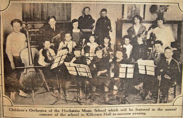 The Children's Orchestra at Hochstein, circa 1920s. - COURTESY OF THE HOCHSTEIN SCHOOL