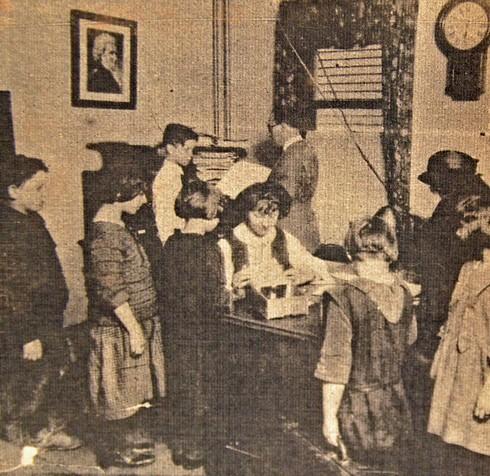 The Hochstein Music School office, circa 1920s. - COURTESY OF THE HOCHSTEIN SCHOOL